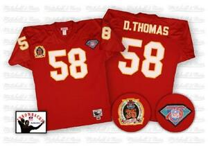 size 40 f9e31 36886 Details about Kansas City Chiefs Derrick Thomas Mitchell and Ness Men's  Authentic Home Jersey