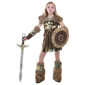 Viking girl costume kids astrid how to train your dragon halloween image is loading viking girl costume kids astrid how to train ccuart Images