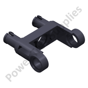 Lego Compatible - Pin Connector Toggle Joint Double - 48496 - Black - 10 Pcs