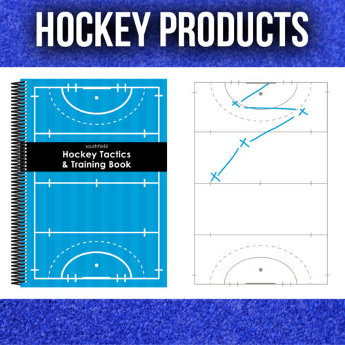 3 x A4 HOCKEY COACHES NOTEBOOKS FOR TRAINING AND TACTICS
