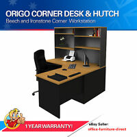 Corner Workstation Office Desk With Hutch, Home Furniture, Computer Study Desk
