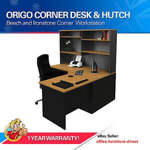 Corner-Workstation-Office-Desk-with-Hutch-Home-Furniture-Computer-Study-Desk