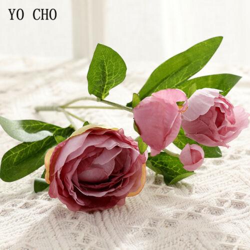4Heads Artificial Peony Fake Silk Flowers Rose Bridal Wedding Bouquet Home Decor