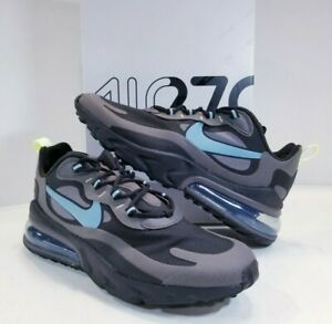 Details about Nike Air Max 270 React Black Grey Blue Men's Lifestyle  Running Shoes sz 9