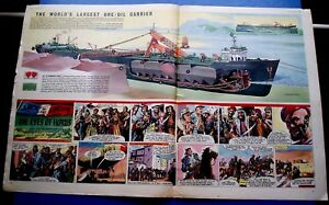 Details about SINCLAIR PETROLORE WORLDS LARGEST OIL TANKER CUTAWAY DRAWING  14/3/1958 EAGLE