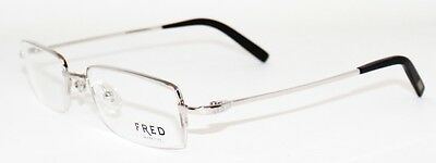 925$ New FRED MANHATTAN N2 Unisex 52mm Platinum Eye Glasses Semi rimless Frame