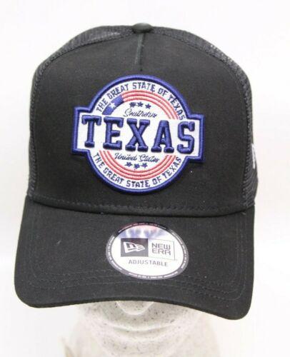 New Era Snapback A-Frame Trucker Cap Adjustable Southern Texas Noir Capuchon NEUF