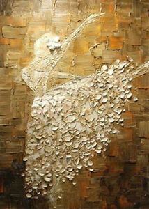 20-x28-Pure-Hand-painted-Abstract-Oil-Painting-Ballerina-Dance-NO-Frame