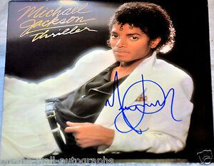 MICHAEL JACKSON HAND SIGNED AUTOGRAPHED ORIGINAL THRILLER ...