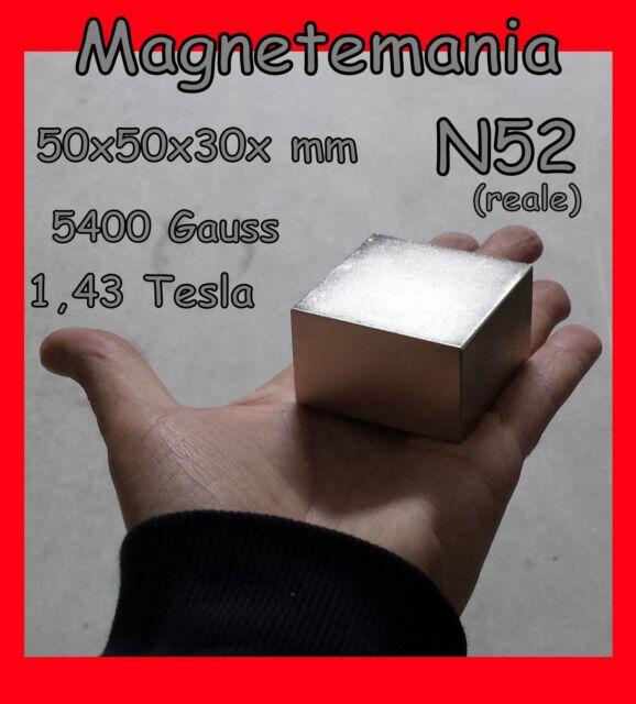 MAGNETE NEODIMIO 50X50X30 mm N 52 !!!!   CALAMITA CALAMITE MAGNETI