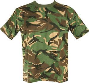 Helikon Tex Classique Armée T Shirt British US Army Coton Militaire Camouflage