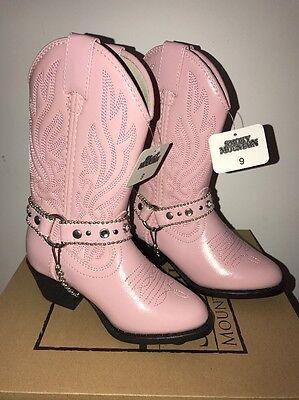 SMOKY MOUNTAIN CHARLESTON GIRL/'S PINK WESTERN BOOTS Sizes 6,7,8 /& 10