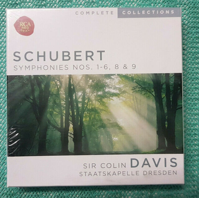Schubert - Symphonies NOS. 1-6, 8 & 9 (Davis, Dresden) #560 - 4CDs: neu, ovp
