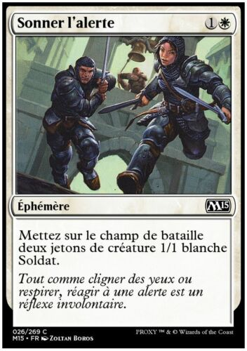 Sonner l/'alerte X4 VF FR NEUF MTG Commune Magic 2015 // M15