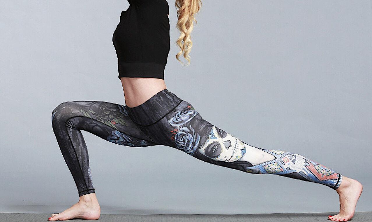 Pantaloni Leggings Yoga damen Casual Sport Woman Fitness Yoga Trousers FITS005 P