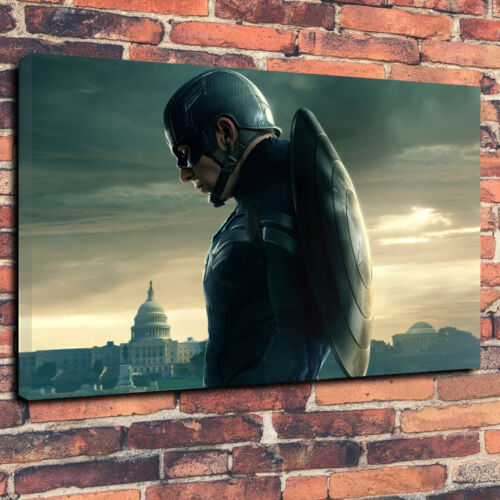 """Captain America Avengers DC Printed Canvas Picture A1.30/""""x20/""""x30mm Deep Frame"""