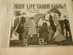 Pub-High-Life-Tailor-Habille-par-Sem-amp-Roubille-Print-Advert-1910