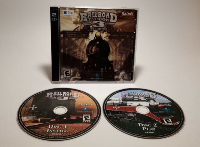 Railroad Tycoon 3 (PC, 2004) Simulation MAC Install Disc & Game Disc