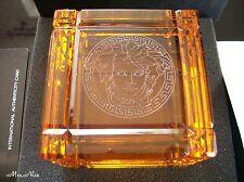 Rosenthal Versace Medusa Prisma Paperweight Amber Briefbeschwerer **NEU & OVP**