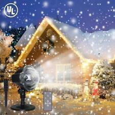 LED Laser Projektor Weiß Schneeflocken Weihnachten Licht Party Garten Deko Xmas