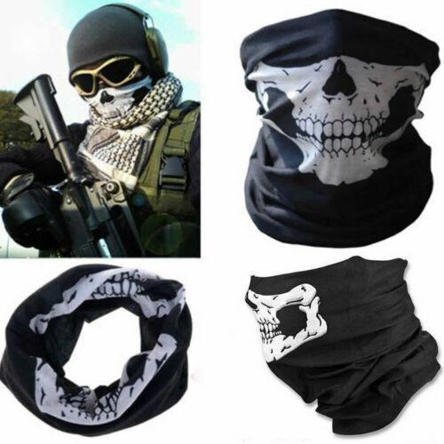 Skull Scarf Bandana Neck Face Cover Wrap Gaiter Snood Headband Beanie Cover
