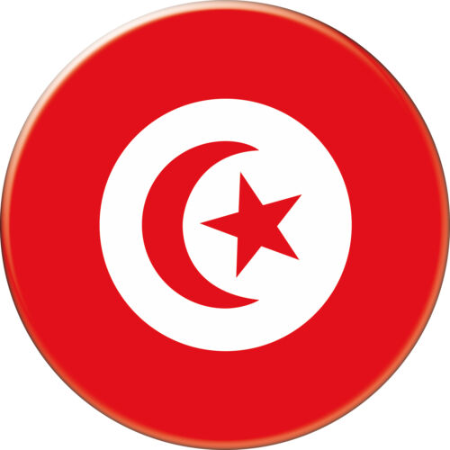 TUNISIE TUNISIA DRAPEAU FLAG PAYS COUNTRY Ø38MM PIN BADGE BUTTON