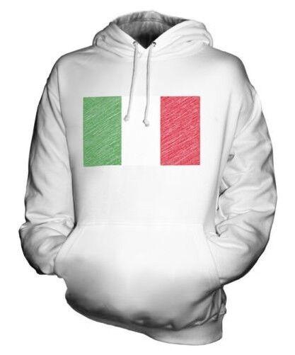 Italien Scribble Flag Unisex Kapuzenpulli Top Geschenk Italia Italian