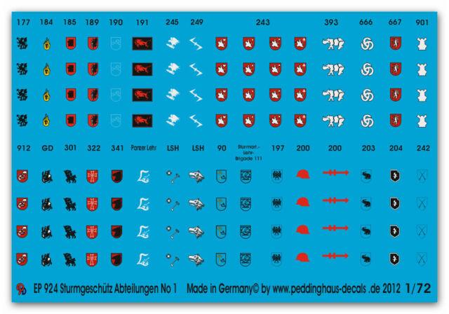 1/72 Deutsche Stug Batterien No 1 924