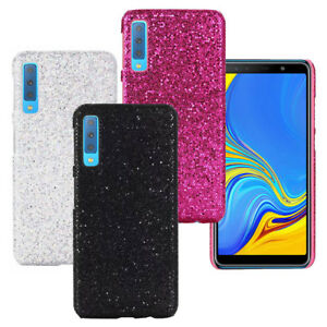 save off 56b0c aa5f0 Details about For Samsung Galaxy A7 2018 A750 Sparkle Bling PU Coated hard  case back cover