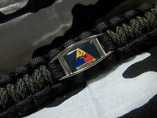 U.S ARMY 3rd Armored Division SPEARHEAD 550lb Paracord Key Fob w Carabiner