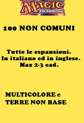 MAGIC LOTTO 100 NON COMUNI MULTICOLORE E TERRE NON BASE