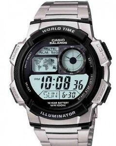 Casio-AE-1000WD-1A-Orologi-Uomo-Batt-10-anni-5-Sveglie-Crono-Timer