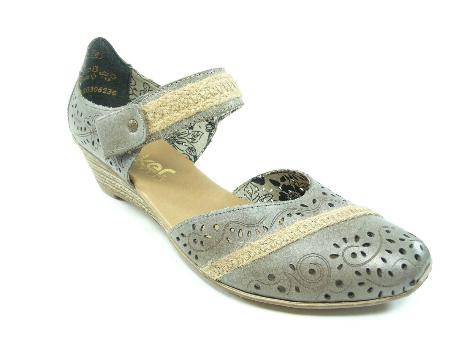 Rieker Damen Schuhe Schuhe Schuhe Halbschuhe Pumps in Grau mit  Art.Nr. 48156-40 Mirjam  | Deutschland München  0ee7b5