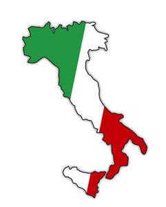 Details zu Aufkleber Italien mit Sizilien Stiefel Italia Umriss Flagge dreifarbig Tricolore