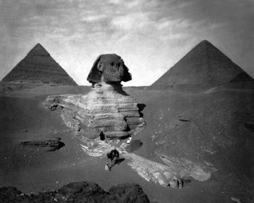 Egypt Poster Ancient Monuments PYRAMIDS OF GIZA Glossy 8x10 Photo Print Cairo