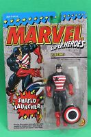 Marvel Super Heroes Us Agent With Shield Launcher Figure Toybiz 1994 On Card