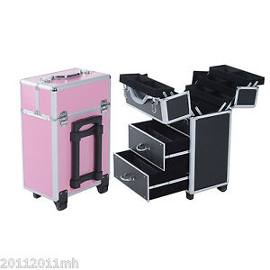 Aluminum-Rolling-Makeup-Train-Case-Cosmetic-Organizer-Storage-Box-Lockable