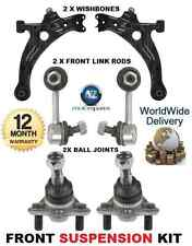 FOR TOYOTA AVENSIS FRONT 2x WISHBONE ARM LINK BARS 2x BALL JOINTS SUSPENSION KIT