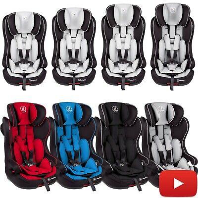 Isofix Kindersitz Autokindersitz Kinder Autositz 9 bis 36 Kg Iso Grau NEU BabyGo