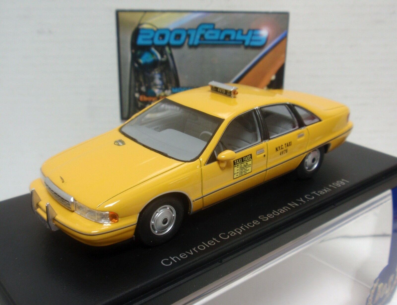 CHEVROLET CAPRICE SEDAN TAXI NEW YORK 1991 1 43 BOS MODELS