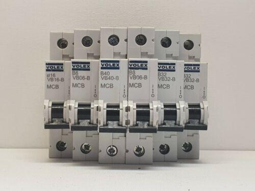 Volex VB MCB Assorted VB16 VB06 VB40 VB32 B 6A 16A 32A 40A Amp Circuit Breaker