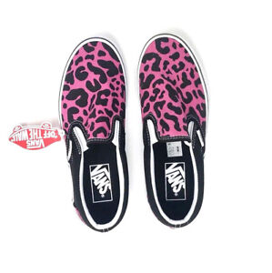 b5fb9d1097 Vans Classic Slip On Leopard Pink Black Women s 6 Kids 4.5 Skate ...