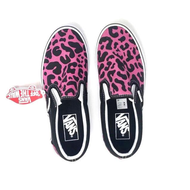 c5fbaf5367e8 VANS Classic Slip on Leopard Pink Black Men s 10 Skate Shoes for ...