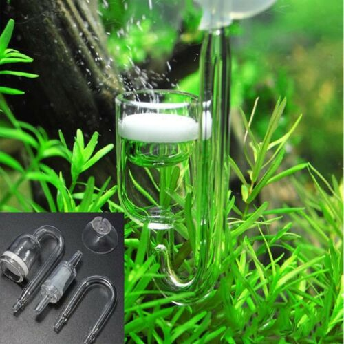 US Aquarium Accessories Tank Glass CO2 Refiner Diffuser with Suckers for Planted