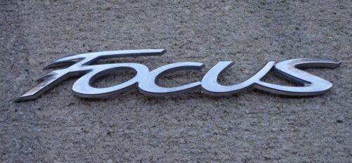 Ford Focus emblem badge decal logo OEM Factory Genuine Stock chrome rear trunk