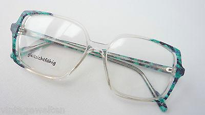 Aggressiv Solstar Austria Große Hippiebrille Vintagefassung Frauen Eckige Glasform Size L