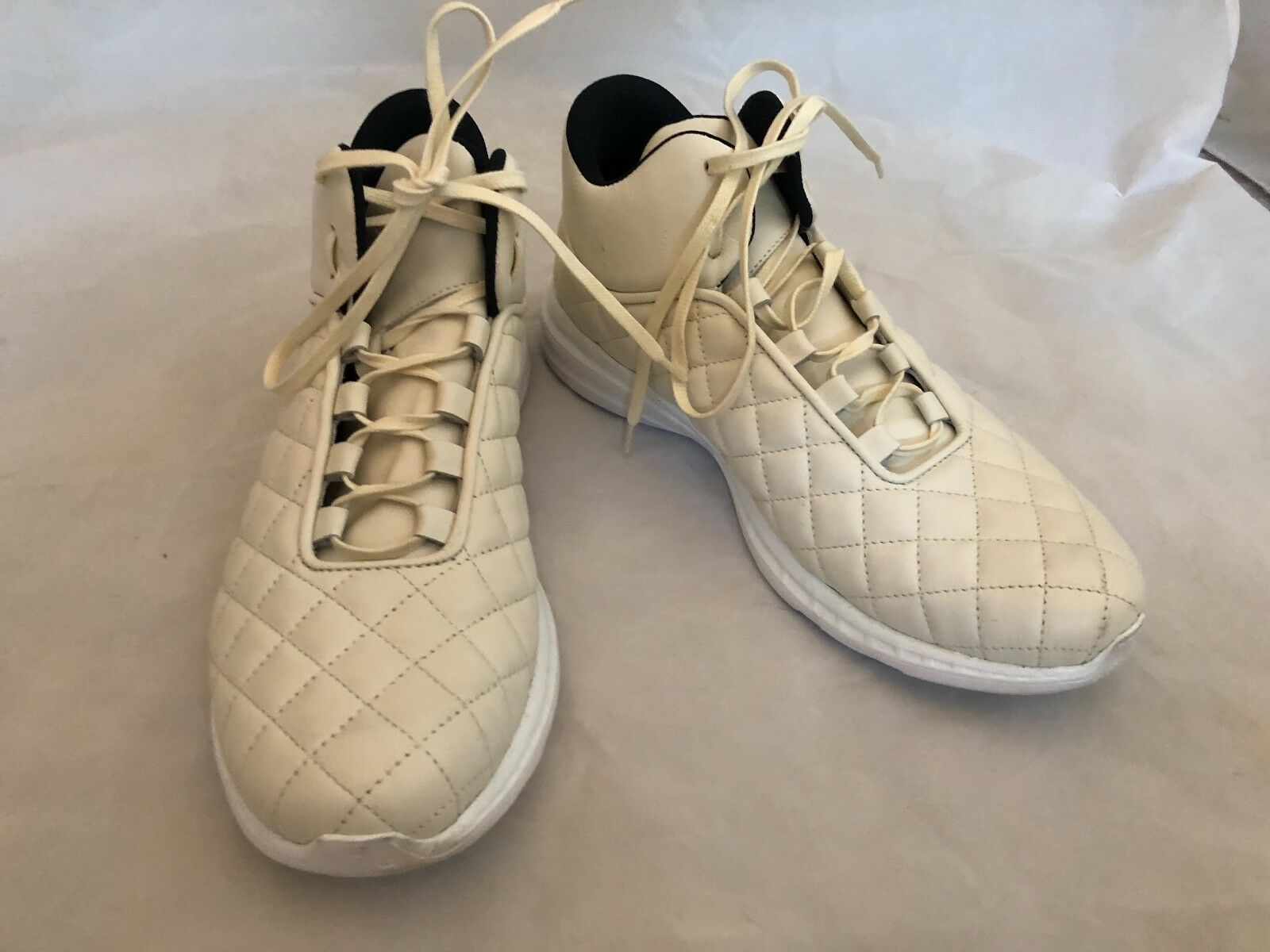 NWOB APL athletic propulsion labs  LUSSO off white & navy shoes sz. 7-  HTF