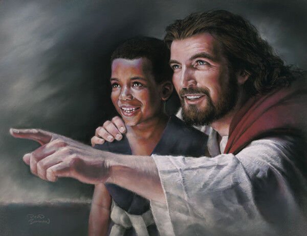Inspire Jesus Christ Boy Print Picture by David Bowman Religious Spiritual Art