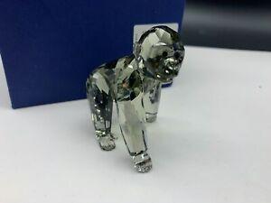 Swarovski-Figurine-955440-Crystal-Gorilla-Youngster-2-3-8in-Boxed-amp-Certificate