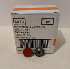 Sa Roloc 34 Quick Change Sanding Disc Box Of 100 60 Grit Ceramic Type 2